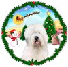 Santa Claus Old English Sheepdog