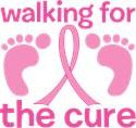 Walking for a cure  cancer Yard Signs