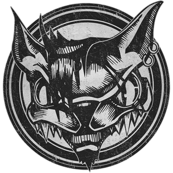 Distressed Wild Cat Stamp