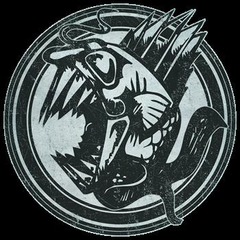 Distressed Wild Piranha Stamp