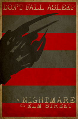 A Nightmare on Elm Street Minimalist Poster Design