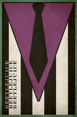 Beetlejuice Minimalist Poster Design