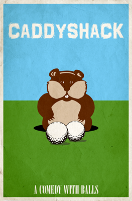 Caddyshack Minimalist Movie Poster