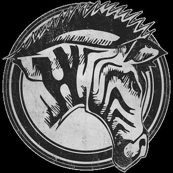 Distressed Wild Zebra Stamp