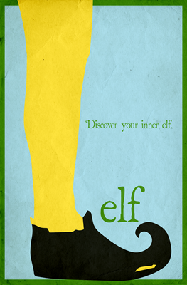 Elf Minimalist Poster Design