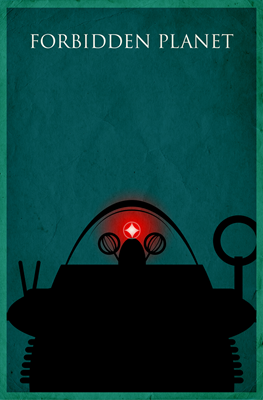Forbidden Planet Minimalist Poster Design