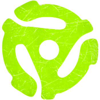 Lime Green Distressed 45 RPM Adapter