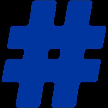 Blue #Hashtag