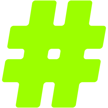Neon Green #Hashtag