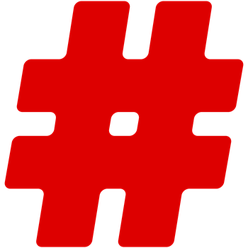 Red #Hashtag
