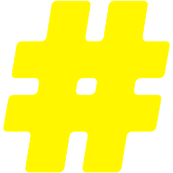 Yellow #Hashtag
