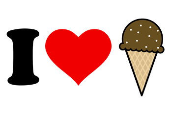 I Heart Ice Cream Cone