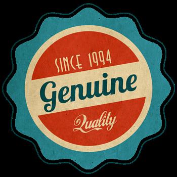 Retro Genuine Quality Since 1994 Label