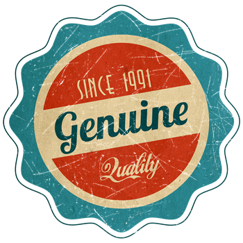 Retro Genuine Quality Since 1991 Label
