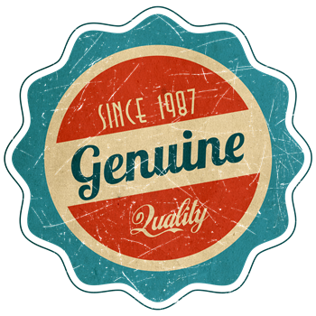 Retro Genuine Quality Since 1987 Label
