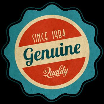 Retro Genuine Quality Since 1984 Label