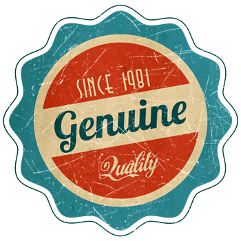 Retro Genuine Quality Since 1981 Label