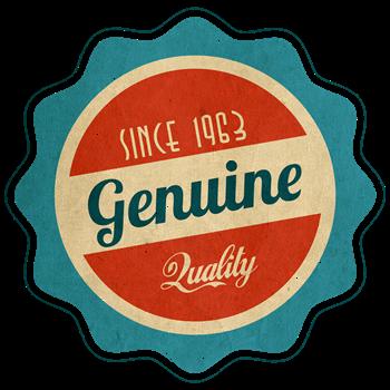 Retro Genuine Quality Since 1963 Label