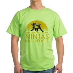 ninja4a-black Green T-Shirt