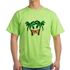 Macaw in Palms Green T-Shirt