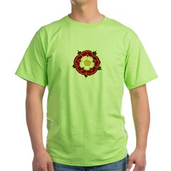 Tudor Rose Green T-Shirt