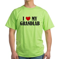 I Love My Grandlab Green T-Shirt