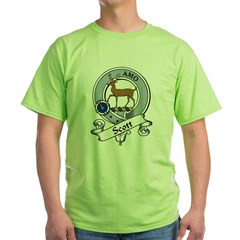 Scott Clan Badge Green T-Shirt