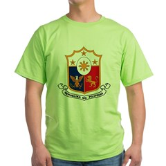 Philippines Coat of Arms Green T-Shirt
