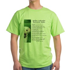 Yellow Lab Rules Green T-Shirt