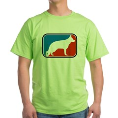 RWB German Shepherd Ash Grey T-Shirt (Style 2) Green T-Shirt