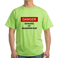 Beware/ Go Vertical Helicopter Ash Grey Green T-Shirt
