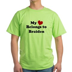 My Heart: Braiden Ash Grey Green T-Shirt