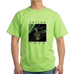 Shrox Space Art Skylab Green T-Shirt