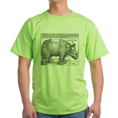 Durer Rhino Ash Grey Green T-Shirt