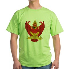 Thailand Emblem Ash Grey Green T-Shirt