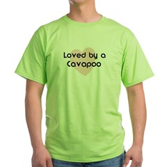 Loved by a Cavapoo Green T-Shirt