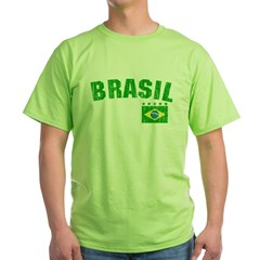 BRAZIL-BLACK-worn Green T-Shirt