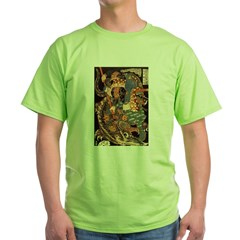 Miyamoto Musashi Fights Nue Ash Grey Green T-Shirt