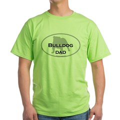 Bulldog DAD Ash Grey Green T-Shirt