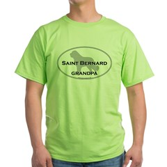 Saint Bernard GRANDPA Green T-Shirt