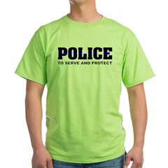 policesmall1 Green T-Shirt