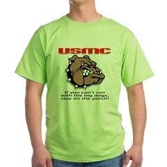 USMC Brown Bulldog Green T-Shirt