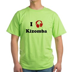 Kizomba music Ash Grey Green T-Shirt