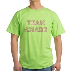 Pink team Amare Green T-Shirt