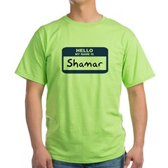 Hello: Shamar Ash Grey Green T-Shirt