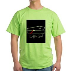 COFFIN GIRL Ash Grey Green T-Shirt