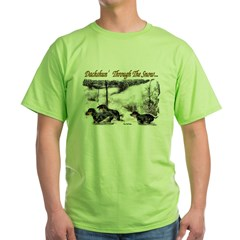 Dachshund Christmas Green T-Shirt