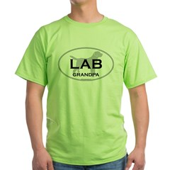 Lab GRANDPA Green T-Shirt