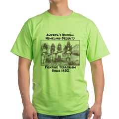 """America's Original Homeland Security"" Ash Grey Green T-Shirt"