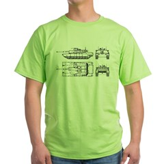 M1-A1 Abrams Main Battle Tank Green T-Shirt